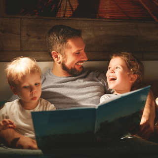 early reading skills for autistic children with dad